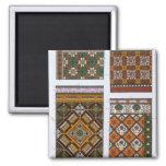 Diseños para la mayólica y las tejas esmaltadas pa imán cuadrado