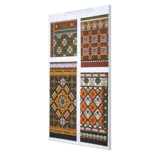 Diseños para la mayólica y las tejas esmaltadas pa impresión en lienzo