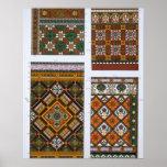 Diseños para la mayólica y las tejas esmaltadas pa póster