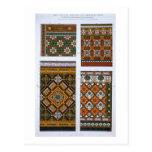 Diseños para la mayólica y las tejas esmaltadas tarjeta postal