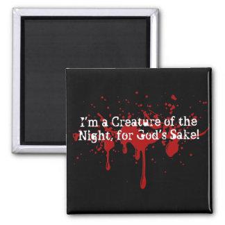 Diseños para todos usted criaturas de la noche: )  imán cuadrado