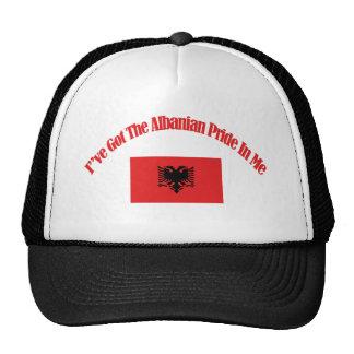 Diseños patrióticos albaneses de la bandera gorro
