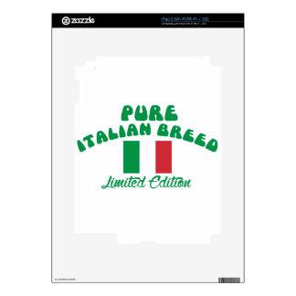 Diseños patrióticos del italiano iPad 2 calcomanías
