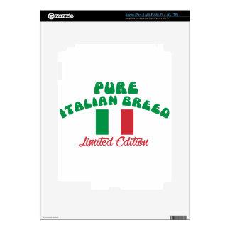 Diseños patrióticos del italiano iPad 3 pegatina skin