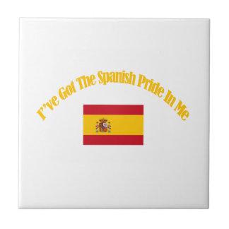 diseños patrióticos españoles de la bandera azulejo