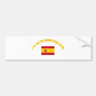 diseños patrióticos españoles de la bandera pegatina para auto