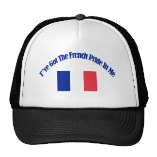 Diseños patrióticos franceses de la bandera gorras de camionero