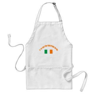 Diseños patrióticos irlandeses de la bandera delantal