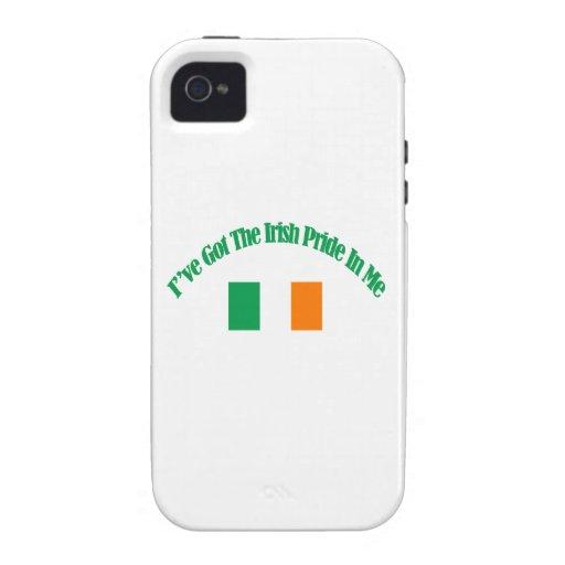 Diseños patrióticos irlandeses de la bandera iPhone 4/4S fundas