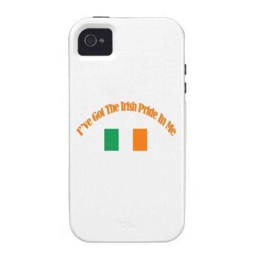 Diseños patrióticos irlandeses de la bandera Case-Mate iPhone 4 carcasas