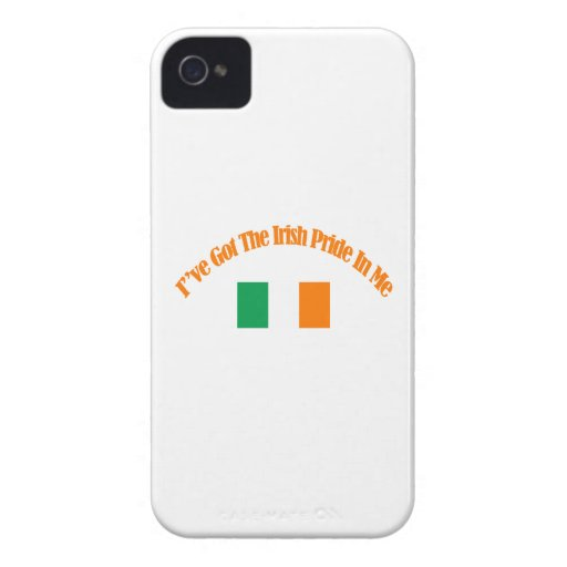 Diseños patrióticos irlandeses de la bandera iPhone 4 Case-Mate protector