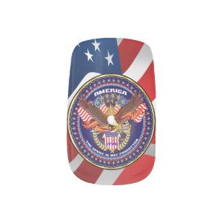 Diseños patrióticos o del veterano 2 pegatina para manicura