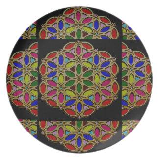 Diseños pendientes 99 del collar colorido del platos
