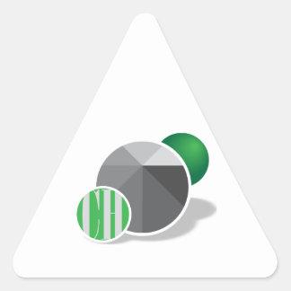 Diseños personalizados pegatina triangular