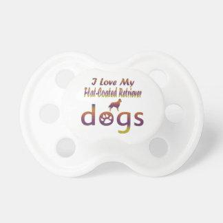 Diseños Plano-Revestidos del perro perdiguero Chupetes Para Bebes