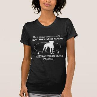 Diseños polacos de la mamá del perro pastor de la camiseta