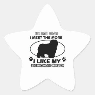 Diseños polacos y regalos del perro pastor de la pegatina en forma de estrella