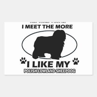 Diseños polacos y regalos del perro pastor de la pegatina rectangular