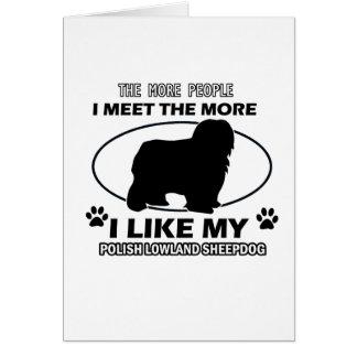 Diseños polacos y regalos del perro pastor de la t tarjeta de felicitación
