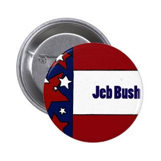 Diseños políticos de Jeb Bush Pin Redondo De 2 Pulgadas