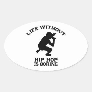 DISEÑOS preciosos de Hip Hop Pegatina Ovalada