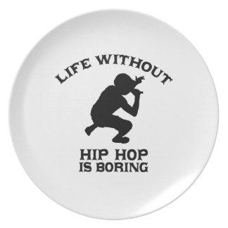 DISEÑOS preciosos de Hip Hop Platos Para Fiestas