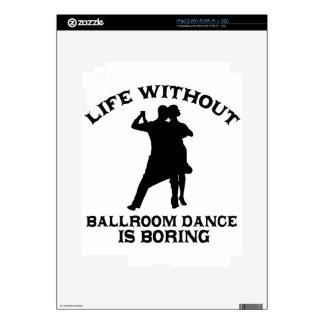 DISEÑOS preciosos de la danza de salón de baile Calcomanías Para iPad 2