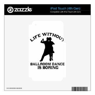 DISEÑOS preciosos de la danza de salón de baile Calcomanías Para iPod Touch 4G