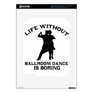 DISEÑOS preciosos de la danza de salón de baile iPad 3 Skins