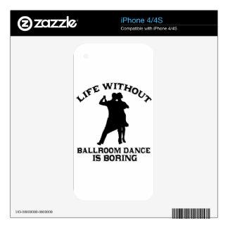 DISEÑOS preciosos de la danza de salón de baile iPhone 4 Calcomanías