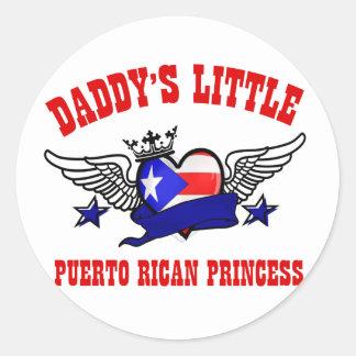 diseños puertorriqueños de la princesa pegatina redonda