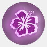 diseños púrpuras del resplandor pegatina redonda