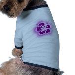 diseños púrpuras del resplandor camiseta de mascota