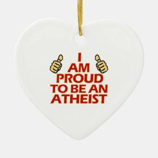 Diseños religiosos ateos adorno navideño de cerámica en forma de corazón