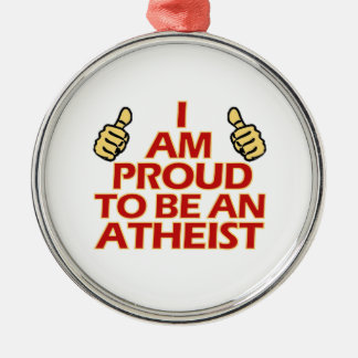Diseños religiosos ateos adorno navideño redondo de metal