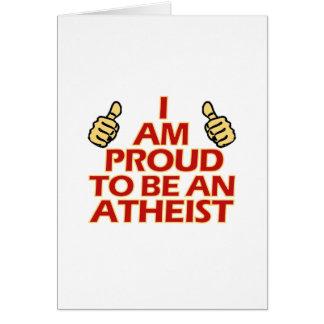 Diseños religiosos ateos tarjeta de felicitación