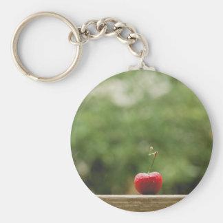 Diseños rojos del llavero de la cereza el | del