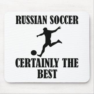 diseños rusos frescos del fútbol mouse pads