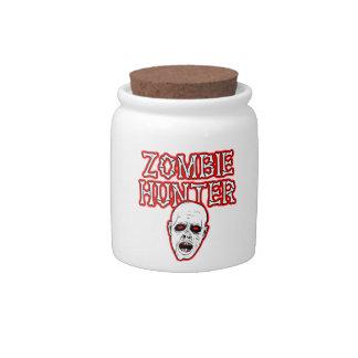 Diseños salvajes del engranaje - cazador del zombi jarra para caramelo