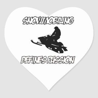 diseños snowmobiling pegatina en forma de corazón