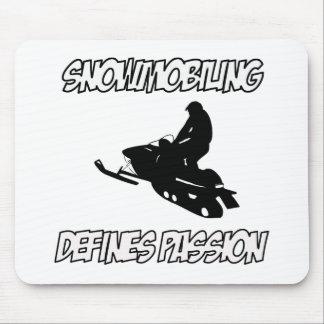 diseños snowmobiling tapete de ratón