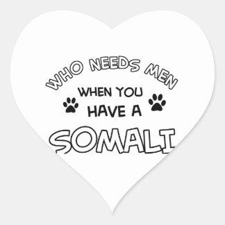 diseños somalíes divertidos pegatina en forma de corazón