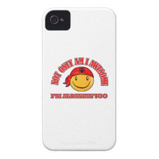 Diseños sonrientes ALBANESES divertidos de la iPhone 4 Case-Mate Carcasa