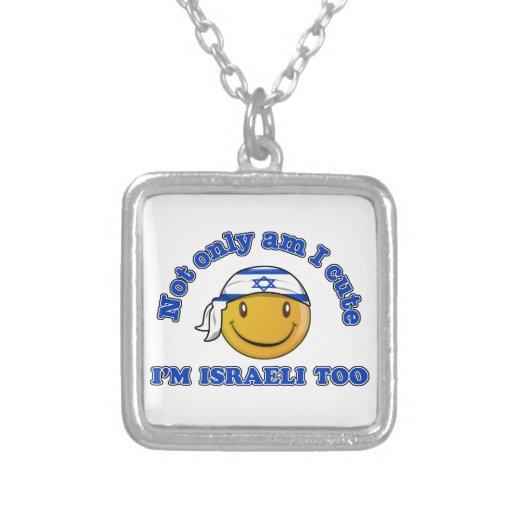 Diseños sonrientes israelíes de la bandera colgante cuadrado