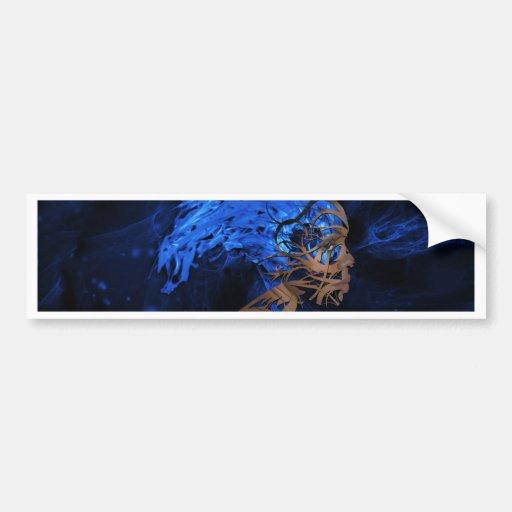 Diseños surrealistas etiqueta de parachoque