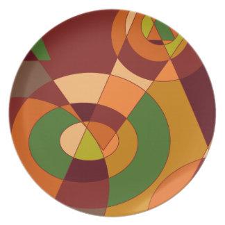 Diseños temáticos del extracto del otoño platos de comidas