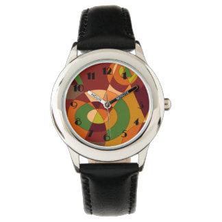 Diseños temáticos del extracto del otoño relojes de pulsera