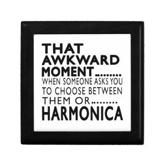 Diseños torpes de esa armónica del momento caja de recuerdo