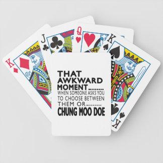 Diseños torpes de esa del momento de Chungkin gama Baraja Cartas De Poker
