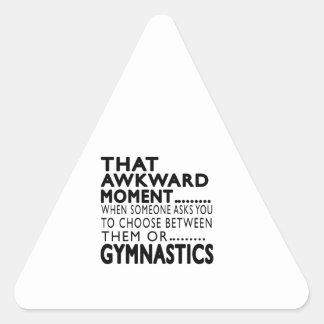 Diseños torpes de esa gimnasia del momento pegatina triangular